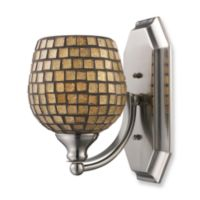 ELK Lighting 1-Light Vanity Fixture in Polished Chrome and Gold Mosaic Glass