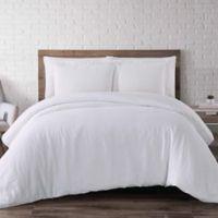 Brooklyn Loom Linen Full/Queen Duvet Cover Set in White