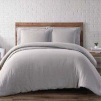 Brooklyn Loom Linen Full/Queen Duvet Cover Set in Grey