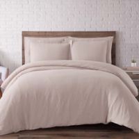 Brooklyn Loom Linen Full/Queen Duvet Cover Set in Blush
