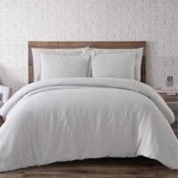 Brooklyn Loom Linen Full/Queen Duvet Cover Set in Platinum
