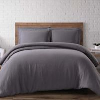 Brooklyn Loom Linen King Duvet Cover Set in Charcoal