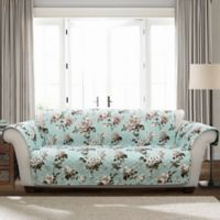 Tania Floral Loveseat Protector in Blue