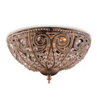 ELK Lighting Elizabethan 3-Light Flush Mount in Dark Bronze