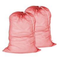 Honey-Can-Do® 2-Pack Mesh Laundry Bag in Red