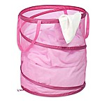 Honey-Can-Do® Large Pop-Up Mesh Hamper in Pink