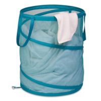 Honey-Can-Do® Large Pop-Up Mesh Hamper in Ocean Blue