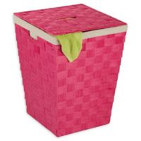 Honey-Can-Do® Woven Paper Rope Hamper with Liner in Pink