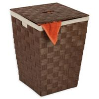 Honey-Can-Do® Woven Paper Rope Hamper with Liner in Brown