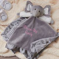Elephant Baby Blankie in Grey