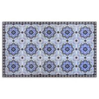 Home Dynamix Calm Step 2' x 3' Anti-Fatigue Kitchen Mat in Blue