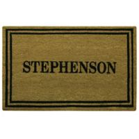 "Bacova Print 23"" x 36"" Coir Door Mat in Brown"