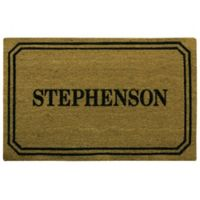 "Bacova Ticket 23"" x 36"" Coir Door Mat in Brown"