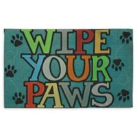 "Mohawk Home® ""Wipe Your Paws"" 18"" x 30"" Multicolor Rubber Door Mat"