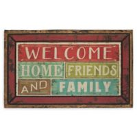 "Mohawk Home® Family Shine Welcome 18"" x 30"" Multicolor Rubber Door Mat"