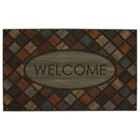 """Mohawk Home® 18"""" x 30"""" Marquetry Welcome Multicolor Door Mat"""