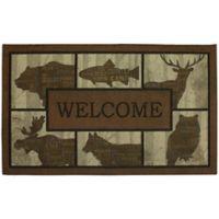 """Mohawk Home® 18"""" x 30"""" Woodland Word Blocks Multicolor Door Mat"""
