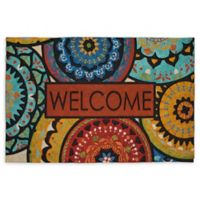 "Mohawk Home® Spanish Suzani Estate Welcome 23"" x 35"" Rubber Door Mat"