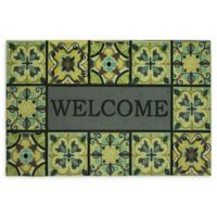 "Mohawk Home® Bohemian Tiles Welcome 23"" x 35"" Multicolor Rubber Door Mat"