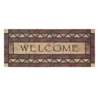 "Mohwak Home® Celtic Rocks Welcome 19.5"" x 47"" Multicolor Door Mat"