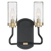 Quoizel© Tenor 2-Light Wall Sconce in Earth Black