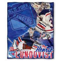 NHL New York Rangers Henrik Lundqvist Silk Touch Player Throw Blanket