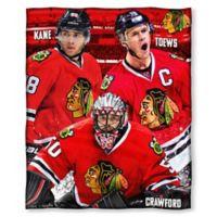 NHL Chicago Blackhawks Top 3 Silk Touch Player Throw Blanket