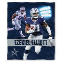 NFL Dallas Cowboys Ezekiel Elliott Silk Touch Throw Blanket