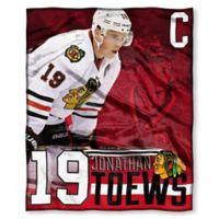 NHL Chicago Blackhawks Jonathan Toews Silk Touch Player Throw Blanket
