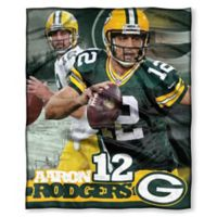 NFL Green Bay Packers Aaron Rodgers Silk Touch Throw Blanket