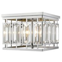 Filament Design Monarch 4-Light Flush-Mount Ceiling Light in Chrome