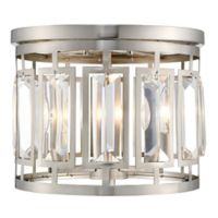 Filament Design Monarch 3-Light Flush-Mount Light in Brushed Nickel