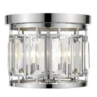 Filament Design Monarch 3-Light Flush-Mount Light in Chrome