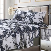 Tribeca Living Milan 300 Thread Count Deep Pocket King Sheet Set In Navy