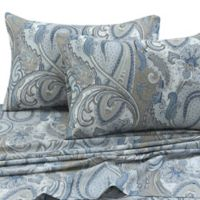 Tribeca Living Paisley Park 300-Thread-Count King Pillowcases in Blue (Set of 2)