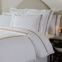 Pointehaven Embroidered 300-Thread-Count Standard Pillowcases in Champagne (Set of 2)