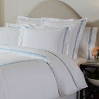 Pointehaven Embroidered 300-Thread-Count Standard Pillowcases in Blue (Set of 2)