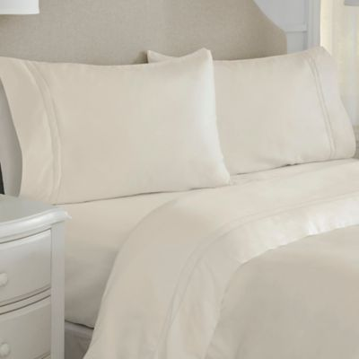 Marvelous Pointehaven Long Staple 620 Thread Count Queen Sheet Set In Bone