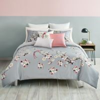 Ted Baker Flight of the Orient Reversible Full/Queen Duvet Cover Set in Grey