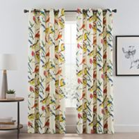 Birdwatcher 84-Inch Grommet Window Curtain Panel in Summer