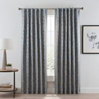Acanthus 84-Inch Rod Pocket/Back Tab Room Darkening Window Curtain Panel in River