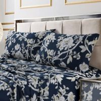 Tribeca Living Colmar 300-Thread-Count Deep Pocket Twin Sheet Set in Navy