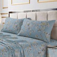 Tribeca Living Colmar 300-Thread-Count Deep Pocket Queen Sheet Set in Sky Blue