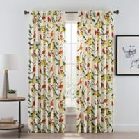 Birdwatcher 84-Inch Pinch Pleat Window Curtain Panel in Summer