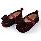 Rising Star™ Size 6-9M Velvet Mary Jane Shoe in Burgundy
