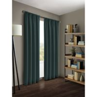 Kenneth Cole Reaction Home Gotham 63-Inch Rod Pocket/Back Tab Window Curtain Panel in Azure Blue