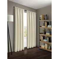 Kenneth Cole Reaction Home Gotham 63-Inch Rod Pocket/Back Tab Window Curtain Panel in Chalk