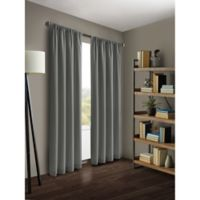 Kenneth Cole Reaction Home Gotham 63-Inch Rod Pocket/Back Tab Window Curtain Panel in Graphite