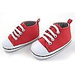 Rising Star™ Size 9-12M Canvas High Top Sneaker in Red