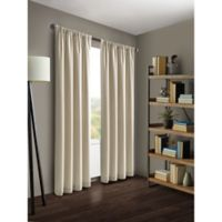 Kenneth Cole Reaction Home Gotham 63-Inch Rod Pocket/Back Tab Window Curtain Panel in Hemp